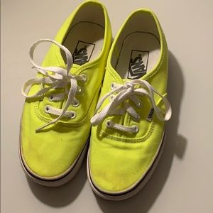 Bright yellow vans